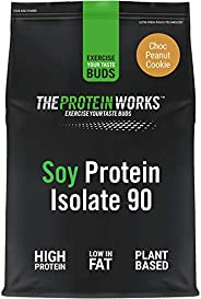 The Protein Works Soy Protein 90 Isolate Powder, Choc Peanut Cookie, 500g