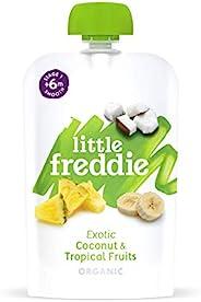 Little Freddie 婴儿食品-椰子和热带水果袋 1段 6x100 克