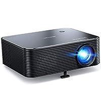 投影儀,APEMAN 原裝 1080P 高清家庭視頻投影儀,支持 4K 電影,300 英寸顯示屏,遠程電子梯形校正,50000 小時使用壽命,適用于手機/電視棒/電腦/HDMI/商務演示。