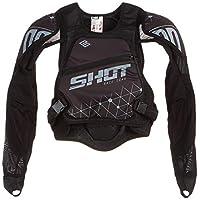 Shot 保護背心兒童超輕,黑色/灰色,尺碼 M