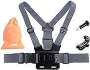 Kitway 胸背带,可调节胸带弹性运动相机身体带,带 J Hoot 兼容新款 GoPro HERO9/GoPro Max,Hero 8 7 6 5 4 3 2 1/Akaso EK7000/DJI Osmo 口袋/Cr