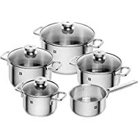 Zwilling 雙立人 Focus 鍋具5件套 玻璃鍋蓋 18/10不銹鋼 66670-000-0,適用于電磁爐/洗碗機