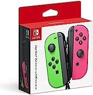 Nintendo 任天堂 Switch-Joy-Con 手柄(L/R)-霓虹绿/霓虹粉红色,Splatoon 2(日本进口)