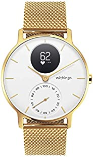 Withings Steel 混合智能手表 - 带心率和活动测量的健身手表,36mm - 限量版,金色表带