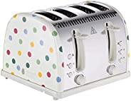 Russell Hobbs 21305 Emma Bridgewater 烤面包机 Polka Dot 4 切片烤面包机 2400 W