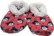 黑白猫超柔软女士拖鞋 - 均码适合大多数人 - 舒适家居拖鞋 - 防滑底 - 适合黑白猫礼物