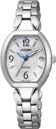 CITIZEN西铁城 腕表 EXCEED Eco-Drive 光动能驱动 电波腕表 钛款 ES8060-57A 女士