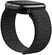 Fitbit Sense and Fitbit Versa 3 配件表带,Fitbit 官方产品,钩环,木炭色,小号