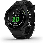 Garmin 佳明 Forerunner 55 GPS 跑步手表,每日建议锻炼,电池寿命长达 2 周,黑色