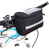 SunTrade 自行车把手包,反光条纹自行车袋,适合户外活动