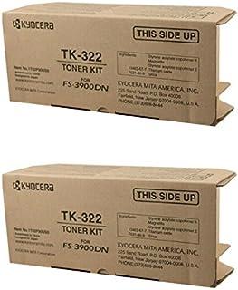 Kyocera 京瓷 TK-322 (TK322) 黑色墨盒 2 件装 FS-3900DN