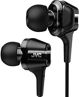 JVC HA-FXT100TWIN系列 入耳式耳机 采用 Hi-Speed双动圈设计 黑色