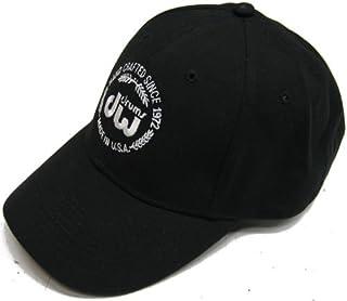 DW Drum Workshop 非结构化帽子,黑色,带魔术贴封口和刺绣 DW 标志
