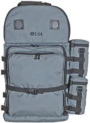F.64 BPX 灰色 - 含: 大型专业摄影背包 - 适用于 SLR DSLR 多镜片 相机配件 防水防雨罩 齿轮 旅行小工具 衬垫 防水数字