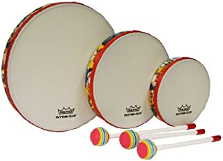 Remo RH3100-00 3 件鼓组合多色节奏俱乐部手鼓套装,6/8/10 英寸直径