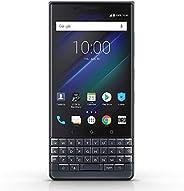 BlackBerry KEY2 LE GSM 解鎖 Android 智能手機,64GB,1300 萬像素后雙攝像頭,Android 8.1 Oreo(美國) - 藍灰色
