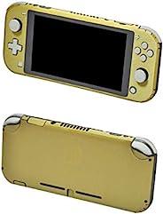 冒险游戏 - 金色、拉丝铝 - 乙烯基控制台皮肤贴花贴纸套装 - 兼容 Nintendo SWITCH LITE