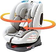 IRIS Plaza ISOFIX固定 儿童*座椅 旋转式 新生儿可用 青少年*座椅 婴儿座椅 (0岁~10岁左右适用) 灰色 0个月~ (1年保修) 4571303934034