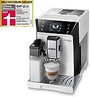 De'Longhi 德龍 PrimaDonna Class ECAM 556.55.W 全自動咖啡機,集成牛奶系統,一鍵式制卡布奇諾咖啡和濃縮咖啡,3.5英寸TFT彩色顯示屏和APP控制,白色