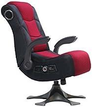 X Rocker 5129101 基座视频游戏椅 2.1 超细纤维网布,黑色/红色