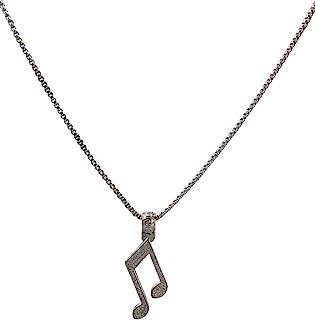 J.Shine 女式男式白金音乐色调图标吊坠项链 GN852