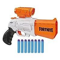 NERF Fortnite SR 玩具枪 -- 4 发弹锤击 -- 包括可拆卸瞄准镜和 8 个官方精英飞镖 -- 适合青少年、青少年、成人