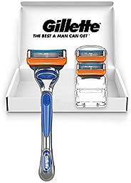 Gillette 吉列 Fusion 锋隐 5+1 剃须刀 本体+替刃3個付