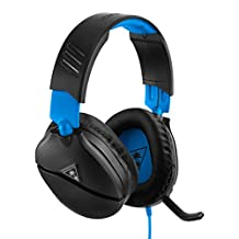 Turtle Beach Recon 70 游戲耳機,適用于 PlayStation 4 Pro、PlayStation 4、Xbox One、Nintendo Switch、PC 和手機 - PlayStation 4 黑色/藍色