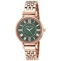 ANNE KLEIN 時裝腕表 (型號: AK/2158GNRG),玫瑰金/綠色,均碼
