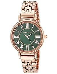ANNE KLEIN 时装腕表 (型号: AK/2158GNRG),玫瑰金/绿色,均码