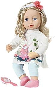 Zapf Creation 706381 Baby Annabell Sophia 43 厘米 - 柔软娃娃,长*,发带,梳发,娃娃裙和娃娃配件