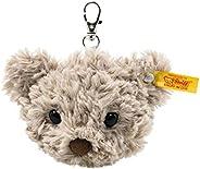 Steiff 112553 原装毛绒玩具吊坠 泰迪熊Honey 柔软可爱 毛绒玩具,约7cm,耳边带有纽扣品牌签,适用于初生婴儿的抱抱玩具,灰色