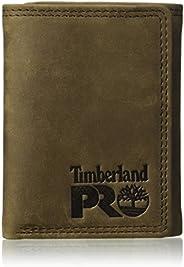 Timberland PRO 男式皮革三折錢包與身份證窗口