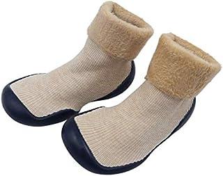 Yolo 婴幼儿学步袜鞋,女童男孩软底防滑棉质网眼透气轻便一脚蹬运动鞋