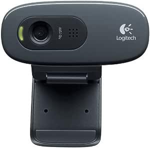Logitech 罗技 C270网络摄像头(灰色,在通话期间可自动调整图像,自带话筒, 提供高清晰音质)