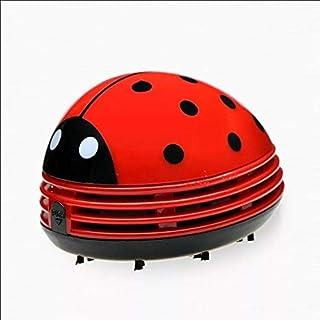 迷你便携式手持无绳桌面碎屑清扫机桌面吸尘器瓢虫除尘器(红色)