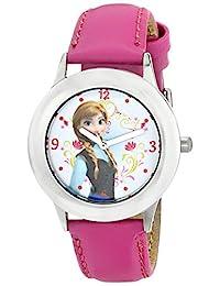 迪士尼女童安娜不銹鋼粉色動畫手表