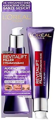 L'Oréal Paris 巴黎欧莱雅 透明质酸眼霜 面部抗皱和体积 含透明质酸 维生素 CG & E 复颜玻