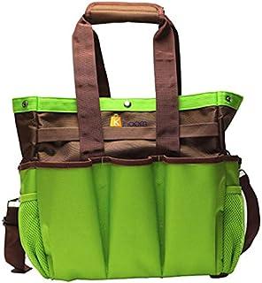 Khoom 园艺工具托特包 - 重型工具包带长可拆卸肩带和 12 个总口袋,大型收纳袋 12 x 12 x 6 英寸(约 30.5 x 30.5 x 15.2 厘米) - (不含工具)
