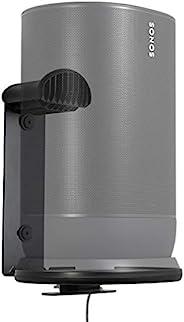 Sanus 室内和室外支架专为 Sonos 移动音箱设计 - 节省搁板和桌面空间 - 耐候 - WSSMM1-B2 (黑色)