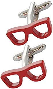 COLLAR AND CUFFS LONDON - 高级袖扣 带礼品盒 - 眼镜 - 眼镜 光学眼镜框 视觉 - 红色