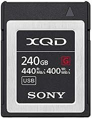 Sony 索尼 240GB (256GB 预格式)5x TOUGH XQD 闪存卡 - 高速 G 系列(读取 440MB/s 和写入 400MB/s) - QDG250F