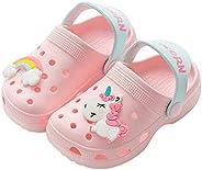 Zardimanfy 儿童独角兽拖鞋凉鞋可爱男孩女孩室内户外家居鞋