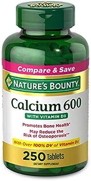 Nature's Bounty 钙加维生素D营养片,有益于身体,600mg钙和800IU维生素D3,