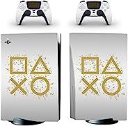 Adventure Games - Days of Play,白色 - 乙烯基控制台皮肤贴花贴纸 + 2 个控制器皮肤套装 - 兼容 PlayStation 5 标准版