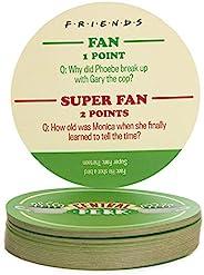 Paladone Friends 电视剧 Trivia Quiz 杯垫   Who is The Biggest Super Fan   20 个 Trivia Quiz 杯垫   简易超硬问题   与朋友一起去探索