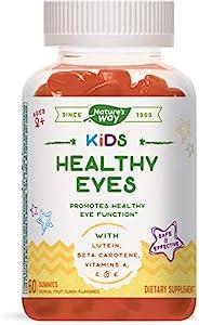 Nature's Way 素食软糖,有益于您的双眼,包含叶黄素和β-胡萝卜素,适合2岁以上的儿童,热带水果味