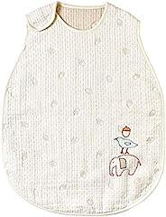 [10mois-Hoppetta] guri 蓬松纱布(6层纱布)睡袋 奶油色 キッズサイズ
