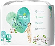 Pampers 帮宝适 纸尿裤 亲肤 Pure(纯型) (9~14kg) 34片