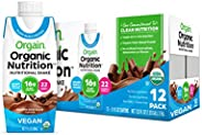 Orgain Plant-Based Organic Nutrition Shake,2个口味,11盎司 ( 27.94 克),12 计数